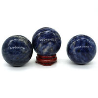 40 MM Blue Sodalite Ball Sphere Healing Crystal Natural Gemstone Quartz Stone