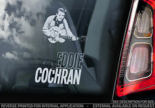 Eddie Cochran - Car Window Sticker - Country Rock & Roll Music Rockabilly Sign