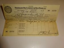 original 1933 Standard Oil Company of New York SOCONY Invoice Receipt 15974 Gas