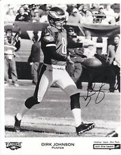 NFL Football Dirk Johnson Eagles autographed signed 8x10 photo