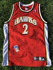 Joe Johnson #2 Hawks Mens Size 40 Medium NBA Atlanta Adidas Authentic ATL Jersey