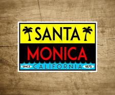 """Santa Monica California Surfing Decal Sticker Pacific Ocean Beach 4"""" x 2.5"""""""