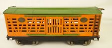 LIONEL PREWAR #213 ORANGE & GREEN STOCK CAR-VG+ PARTIALLY RESTORED CONDITION!