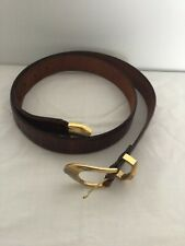 Cale made in Spain mens Classic Metal Buckle Handcrafted Genuine Leather Belt