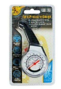 Tyre Pressure Gauge with Bleeder Valve Measures PSI and KG/cm2, Bike & Car Alike