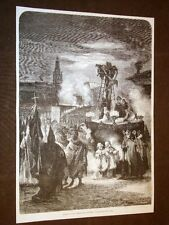 Siviglia o Seville Il Venerdì Santo Processione del Corpus Espagne o Spagna