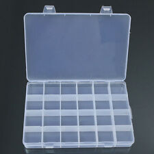 24 Grid Plastic Jewelry Box Case Bead Storage Container Craft Organizer Newly