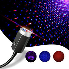 1x 3Color USB Led Car Night Light Star Portable 7 Lighting Effects Decor Bedroom