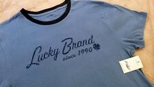 Men T Shirt S LUCKY BRAND 100%- Cotton blue Short Sleeve Since 1990