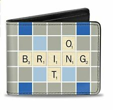 Scrabble Bring It On Squares Durable Buckle Down Bi-fold Wallet New Gift