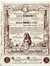 Stad Gent - 1896 - Ville de Gand: Emprunt - Leening