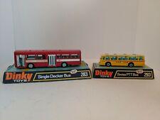 Dinky Vintage Original 283 Single Decker Bus, 293 Swiss PTT Bus. MINT