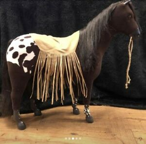 American Girl Doll ~ Kaya's Horse Steps High ~ Black and White Appaloosa Retired