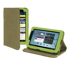 Samsung Galaxy Tab 2 7.0 Tablet Version Stand Hemp Cover Case - Khaki Green