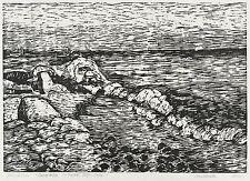 Ulrich giovanotto-Spiaggia del Mar Baltico (acqua, aria, pietre) - legno taglio 1985