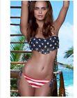 Scrunch butt American flag tassel fringe Brazilian bikini Fourth of July USA