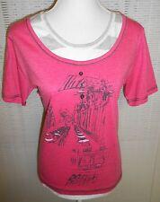 Interessantes Damen Shirt SERENA MALIN Rundhals Halbarm Farbe: Pink Größe: 48