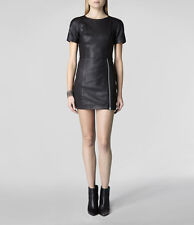 "**SALE** NEW ""ALLSAINTS"" BLACK LEATHER ""FELIZ"" DRESS Sz ""6"" w TAG ORIG $700.00!"