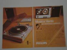 advertising Pubblicità 1971 PIASTRA PHILIPS