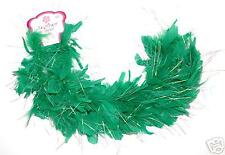 ~*~12 KELLY GREEN FEATHER BOAS~*TEA PARTY DRESS UP GIRL