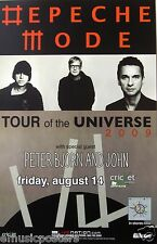"DEPECHE MODE ""TOUR OF THE UNIVERSE 2009"" SAN DIEGO CONCERT POSTER -80's New Wave"