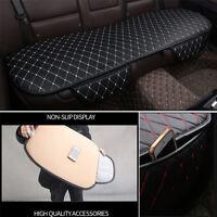 Universal Black PU Leather White Seam Car Rear Seat Cover Back Cushion Mat Pad