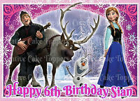 DISNEY ELSA ANNA PRINCESS FROZEN SNOWFLAKE BIRTHDAY PARTY ICING CUP CAKE TOPPERS