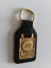Miller Welder Advertising Key Chain Manhattan Windsor Leather Fob