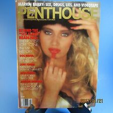 PENTHOUSE February 1991 Color Of Honey Sex Pix,Marion Barry,Hottest Love Scenes