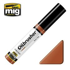 Ammo of Mig Oilbrusher Red Tile - Oil Paint with Fine Brush Applicator #3525