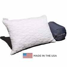 Premium Shredded Memory Foam Camping and Travel Pillow with Bamboo Derived