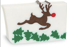 Primal Elements, RUDY Red Nosed Reindeer Bar 7.0+ oz Glycerin Soap Full Size New