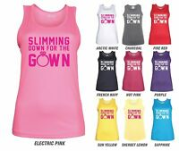 SLIMMING DOWN FOR THE GOWN Workout Vest - JC015 - Ladies Gym Bride Wedding