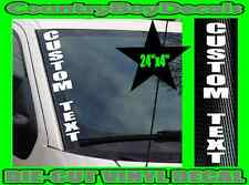 CUSTOM TEXT Vertical STACKED Windshield Vinyl Side Decal Sticker Truck Car GT B