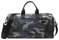 NWT Michael Kors Travis Camouflage Nylon Duffel Gym Bag Vintage Indigo MSRP $375
