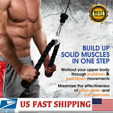 US Rope Tricep Multi Gym Cable Push Attachment Press Pull Arm Down Exercise 27""