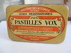 Ancienne boite métal Pastilles Vox Pharmacie médecine docteur