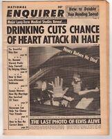 Elvis Presley Newspaper Last Photo Alive NATIONAL ENQUIRER Good Condition 1977
