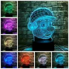 3D LED Super Mario Touch Lamp USB 7 Color Change Light Night Table Decor Gift