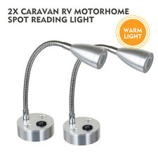 LED Spot Reading Light Switch Camper Caravan VAN Boat Motorhome WarmLight x2 12V