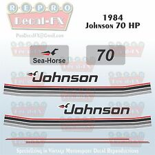 1984 Johnson 70 HP Sea-Horse Outboard Reproduction 10 Pc Marine Vinyl Decals