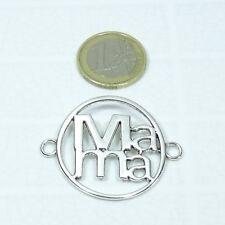 8 Abalorios Para Pulsera 44x34mm T89  Plata Tibetana Charms Plate Chapas Mama