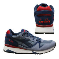 Diadora V7000 Nyl II Mens Lace Up Trainers Low Top Blue Unisex C6952 D78