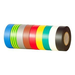 PVC Tape PVC Electrical Insulation Tape Flame Retardent 5m, 20m, 33m All Colours