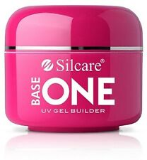 SILCARE Base One Transparent Clear Cover Pink UV Nail builder gel 50g
