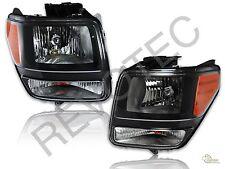 2007-2011 Dodge Nitro Black Housing Headlights Headlamps RH & LH