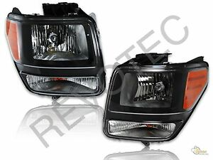 2007-2011 Dodge Nitro Black Housing Headlights Headlamps RH & LH