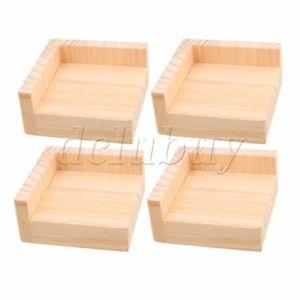 4x Home Furniture Riser Bed Lifters 9.8x9.8CM Feet 3CM Lift Height