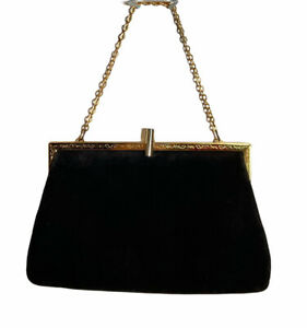 Vintage Leather Etra Evening Bag Gold Hardware