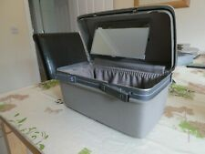 *SAMSONITE* Ladies Grey HARD-SHELL VANITY MAKE-UP TRAVEL CASE w Mirror EC rp£205